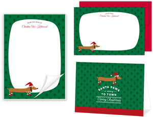 Cute Dog Christmas Stationery Set