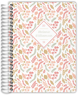 Spring Pink Foliage Weekly Planner