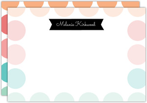 Color Burst Polka Dot Notecard