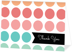 Color Burst Polka Dot Thank You Card