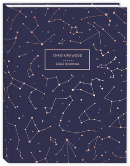 Rose Gold Constellations Custom Journal
