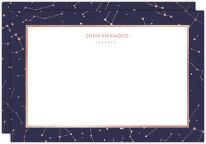 Rose Gold Constellations Custom Notecard