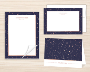 Rose Gold Constellations Stationery Set
