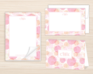 Imperfect Circle Pattern Stationery Set