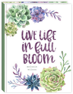 Succulent Pattern Quote Journal
