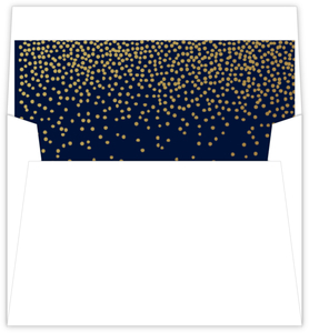 Faux Foil Twilight Stars Envelope Liner