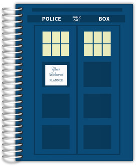 Blue Phone Box Custom Teacher Planner