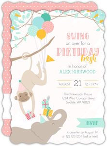 Swing on Over Kids Birthday Invitation