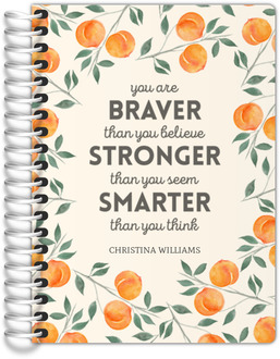 Watercolor Peach Quote Tiny Planner