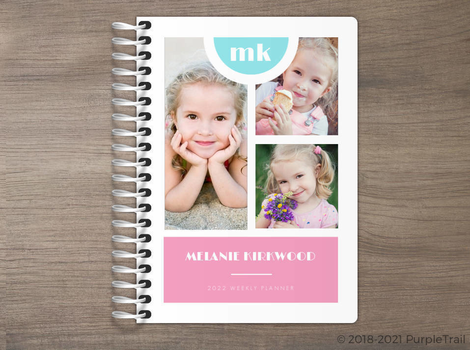 Double Color Photo Collage Tiny Planner