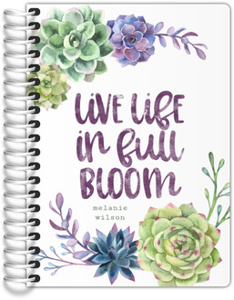 Succulent Pattern Tiny Planner