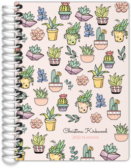 Succulent And Cactus Tiny Planner