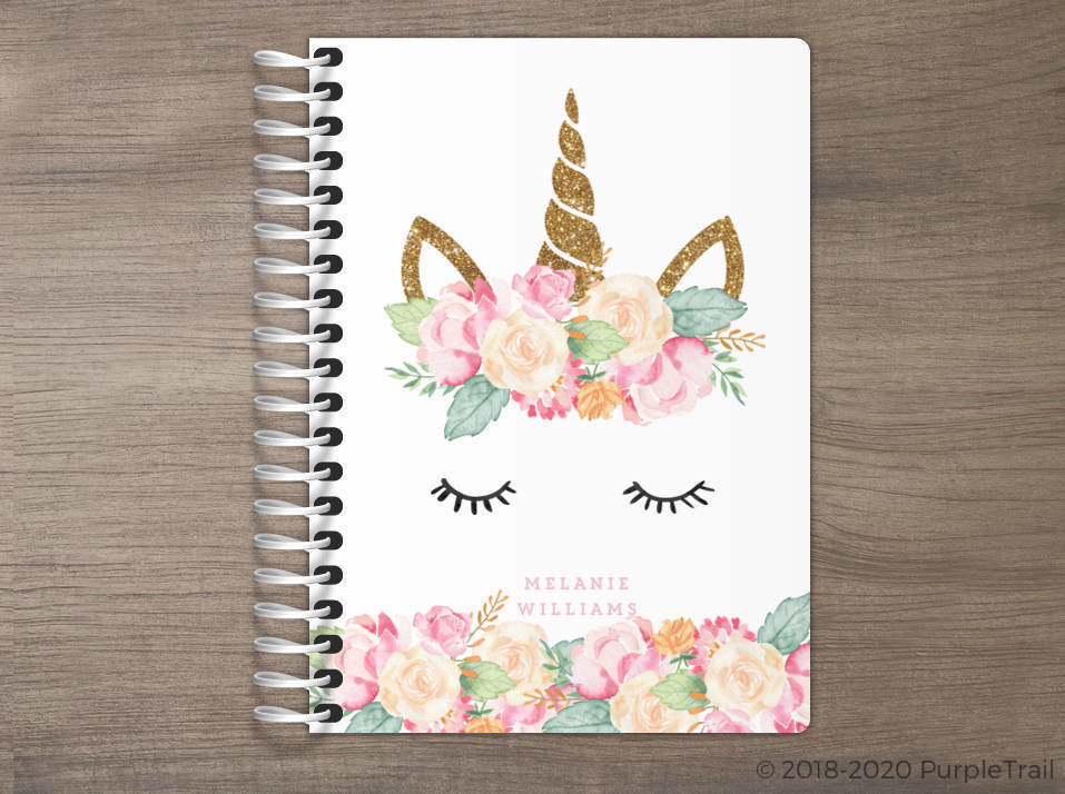 Floral Unicorn Tiny Planner