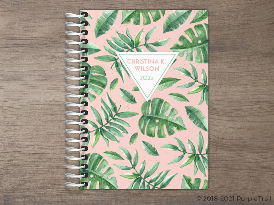 Delicate Watercolor Greens Tiny Planner