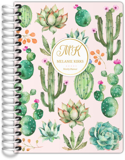 Delicate Watercolor Cacti Tiny Planner