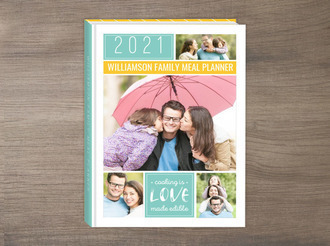 Colorful Family Photo Grid Meal Planner