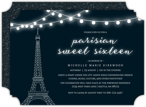 A Night In Paris Sweet Sixteen Birthday Invitation