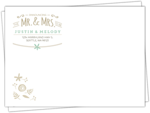 Rustick Mint And Kraft Envelope