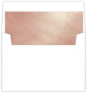 Faux Rose Gold Envelope Liner 7.25x5.25