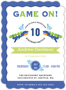 Game On Birthday Battle Party Invitation