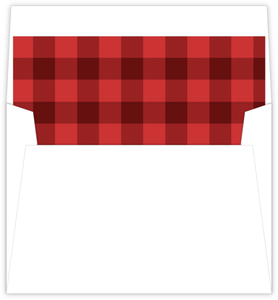 Red Plaid Envelope Liner