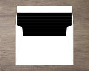 Black with Thin White Stripes Envelope Liner