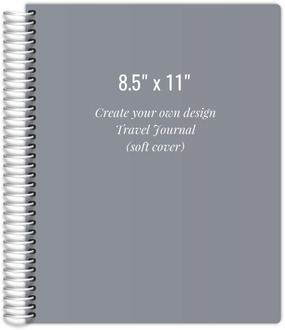 8.5x11 Soft Cover Travel Journal - Create Your Own Design