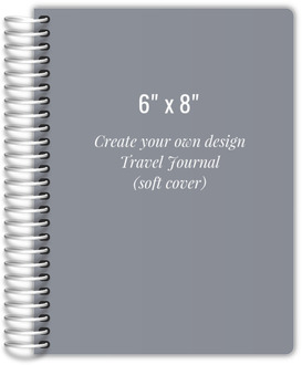 6x8 Soft Cover Travel Journal - Design Your Own