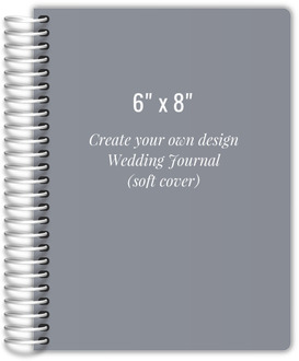 6x8 Soft Cover Wedding Journal - Design Your Own