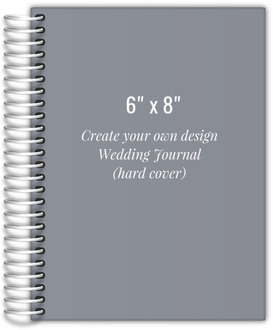 6x8 Hard Cover Wedding Journal - Design Your Own