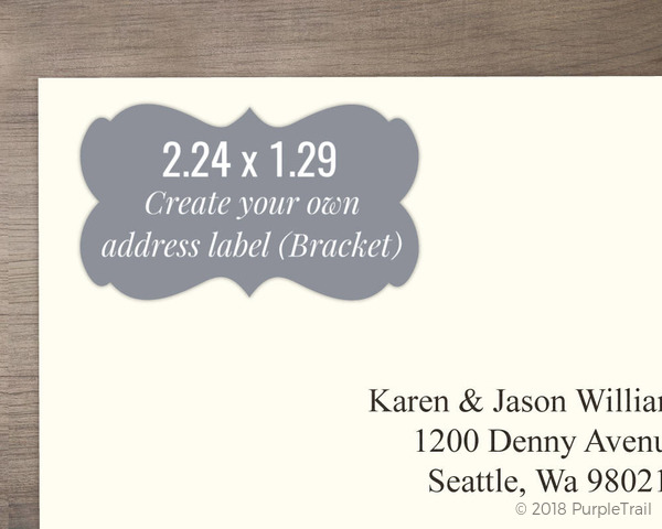 bracket address label design your own create your own labels