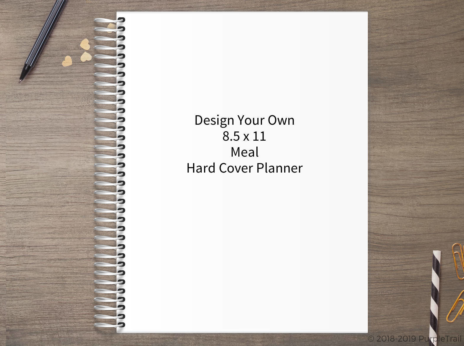 Design Your Own 8.5 x 11 Hard Cover Meal Planner