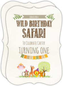 Wild Birthday Safari 1St Birthday Invitation