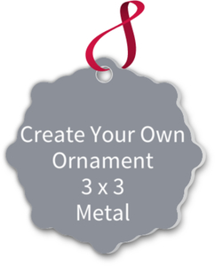 Create Your Own Christmas Ornament - Metal 3 x 3