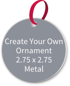 Create Your Own Christmas Ornament - Metal 2.75 x 2.75