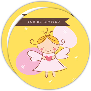 Golden Royal Fairy Princess Birthday Party Invite