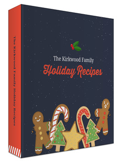 Gingerbread Cookie Holiday Recipe Binder