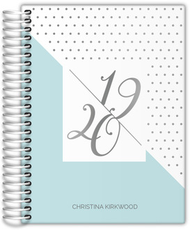 Clean Polka Dot Real Foil Weekly Planner