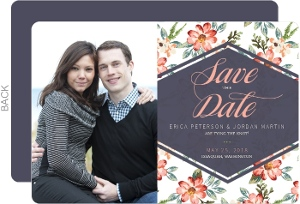 Delicate Watercolor Floral Save The Date Card