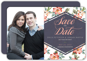 Delicate Watercolor Floral Save The Date Announcement