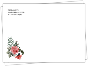 Vintage Rose Envelope