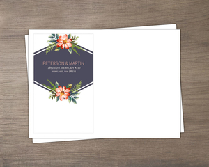 Delicate Watercolor Floral Envelope