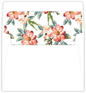 Delicate Watercolor Floral Envelope Liner
