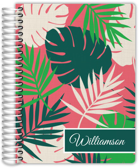 Tropical Palm Print Mom Planner