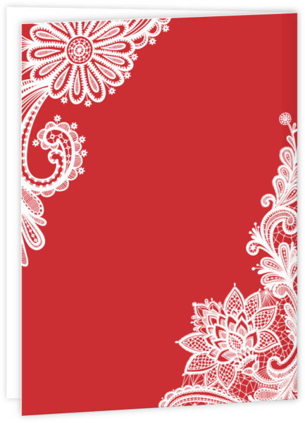 Red And White Lace Quinceanera Invitation Quinceanera Invitations