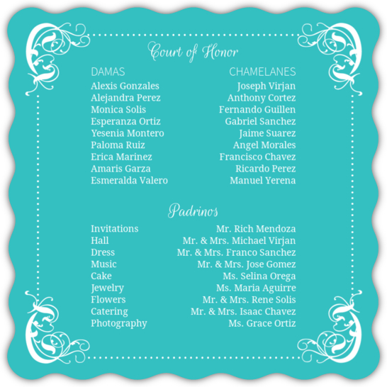 Quinceanera Chambelanes And Damas