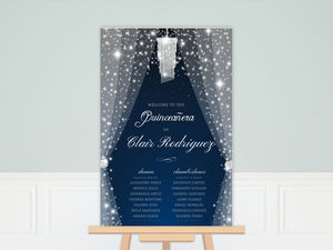 Sparkly & Magical Quinceanera Poster