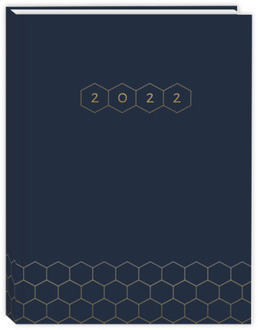 Faux Gold Honeycomb Student Planner