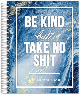 Royal Blue Ink Be Kind Daily Planner