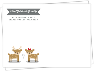 Buck Or Doe Holiday Baby Shoer Full Envelope